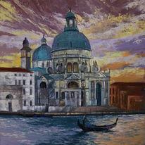 Venedig, Architektur, Ölmalerei, Malerei