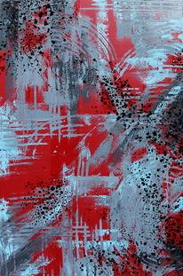 Rot, Blau, Abstrakt, Modern