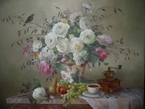 Wandmalerei, Gemälde, Malerei, Weiß