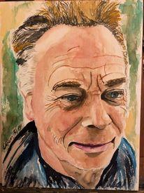 Portrait, Aquarellmalerei, Mann, Aquarell