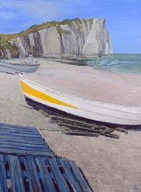Boot, Landschaft, Leinen, Strand