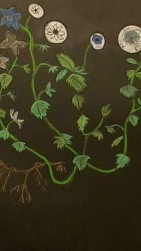 Rund, Blumen, Abstrakt, Bunt