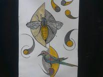 Abstrakt, Vogel, Leben, Fantasie