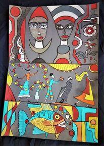 Fantasie, Gesicht, Kopf, Fisch