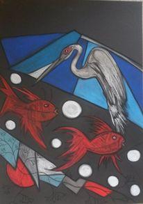 Rund, Fisch, Vogel, Abstrakt