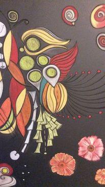 Bunt, Leuchtend, Rund, Blumen