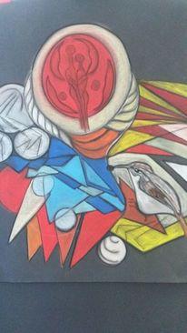 Abstrakt, Bunt, Rund, Vogel