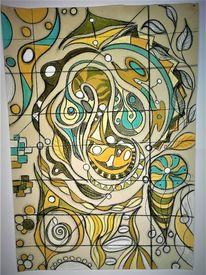 Abstrakt, Fantasie, Rund, Bunt