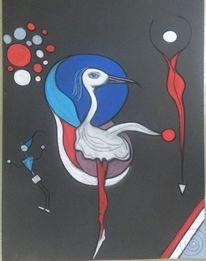 Vogel, Bunt, Figur, Abstrakt