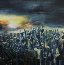 Gesellschaft, Ölmalerei, Politik, Malerei