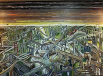 Politik umwelt, Ölmalerei, Gesellschaft, Malerei