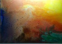 Acrylmalerei, Abstrakt, Leinen, Malerei