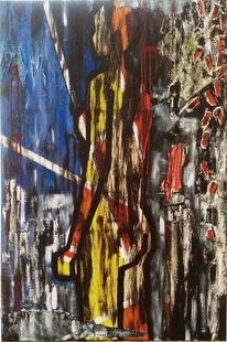Malerei, Acrylmalerei, Perspektive, Frau