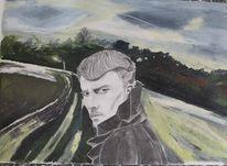 Pastellmalerei, Bleistiftzeichnung, Portrait, Landschaft