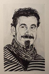 Portrait, Serj tankian, Flüssige kohle, Zeichnungen