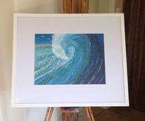 Welle, Spachteltechnik, Wasser, Acrylmalerei