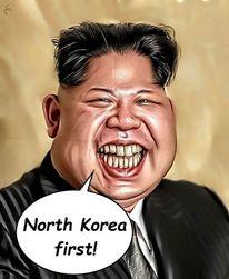 Kim jong un, Karikatur, Digital, Digitale kunst