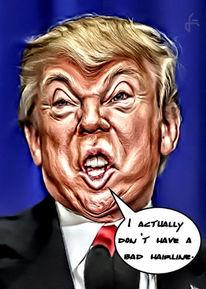 Gimp, Donald trump, Fotobearbeitung, Karikatur