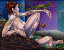 Phantastischer realismus, Malerei, Balance