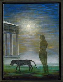 Phantastischer realismus, Figurative malerei, Magischer realismus, Malerei