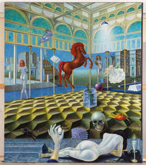 Figur, Phantastische malerei, Malerei, Phantastischer realismus