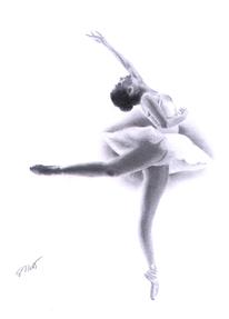 Tanz, Schwarz weiß, Bleistiftzeichnung, Ballett