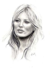 Kate moss, Zeichnungen