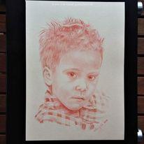 Portrait, Junge, Rötel, Karieren