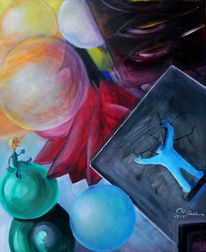 Blau, Bunt, Malerei, Traum