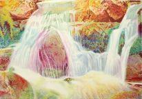 Stein, Felsen, Sonnenlicht, Wasserfälle