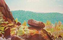Felsturm, Spektralfarbe, Landschaft, Wald