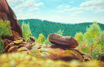 Felsen, Wolken, Natur, Fotorealismus
