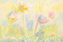 Spektralfarbe, Pflanzen, Naturmalerei, Sonnenschein