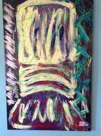 Käfig, Malerei, Abbild, Acrylmalerei