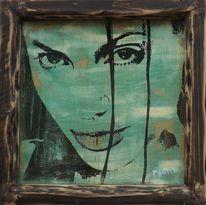 Portrait von prominenten, Porträt kunst, Künstlerische portraits, Abstrakt portrait
