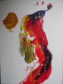 Rot, Abstrakt, Sand, Gold