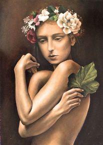 Flora, Ölmalerei, Mdf, Malerei