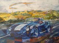 Cabrio, Geschwindigkeit, Auto, Malerei