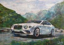 Auto, Bentley, Geschwindigkeit, Berge