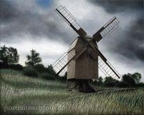 Landschaft, Windmühle, Mühle, Geschichte