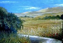 Sizilien, Ölmalerei, Berge, Landschaft