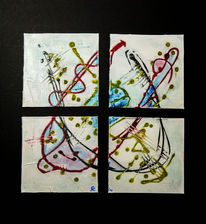 Temperamalerei, Lack, 2013, Abstrakt