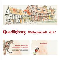 Aquarellmalerei, Architektur, Quedlinburg, Sketching