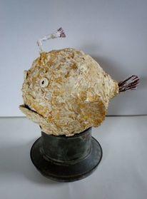 Anglerfisch, Skulptur, Figur, Plastik