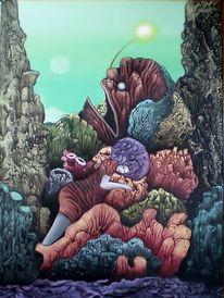Figur, Gemälde, Surreal, Korallen