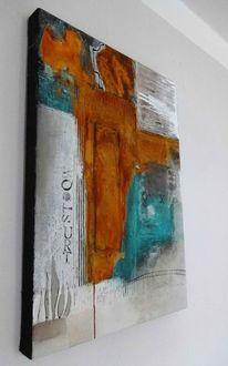 Malerei, Schwarz, Acrylmalerei, Blau