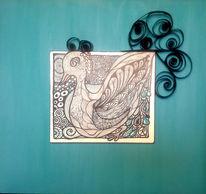Wasservogel, Vision, Quirling, Cosmosart
