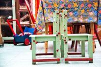 Holz, Malen, Stuhl, Kunsthandwerk