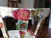 Stuhl, Malen, Decoupage, Kunsthandwerk