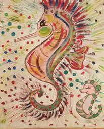 Malen, Weiblichkeit, Acrylmalerei, Träumereien